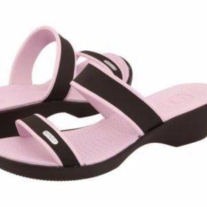 CROCS Madeira Brown Pink Sandals